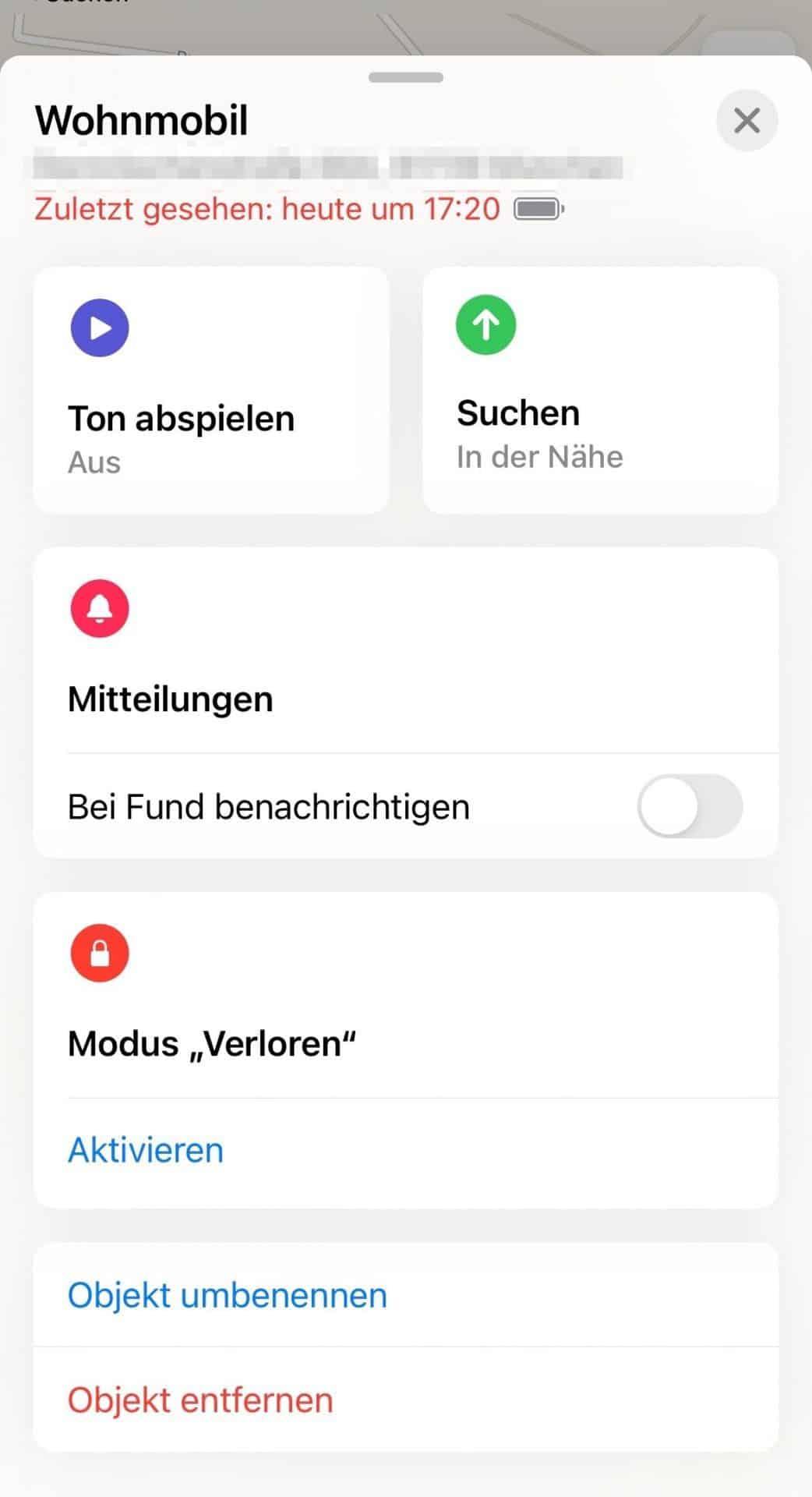 Apple-Airtag-App-Wo-ist-Modus-verloren