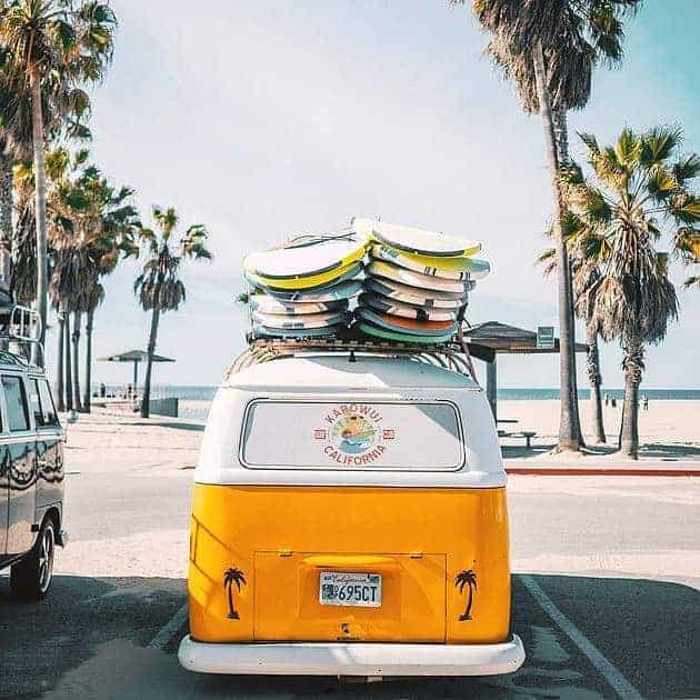 Campervan Surfer Beach