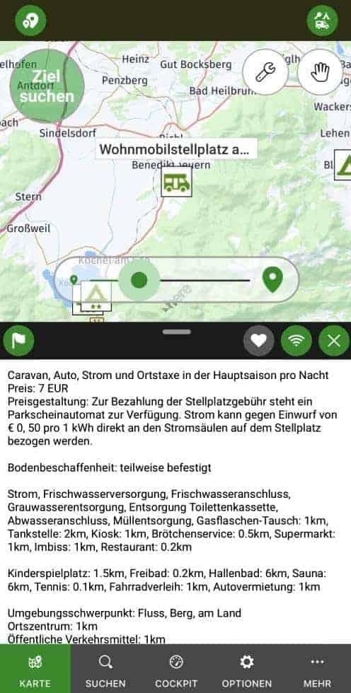 Camping.info Filter POIBase Wohnwagen