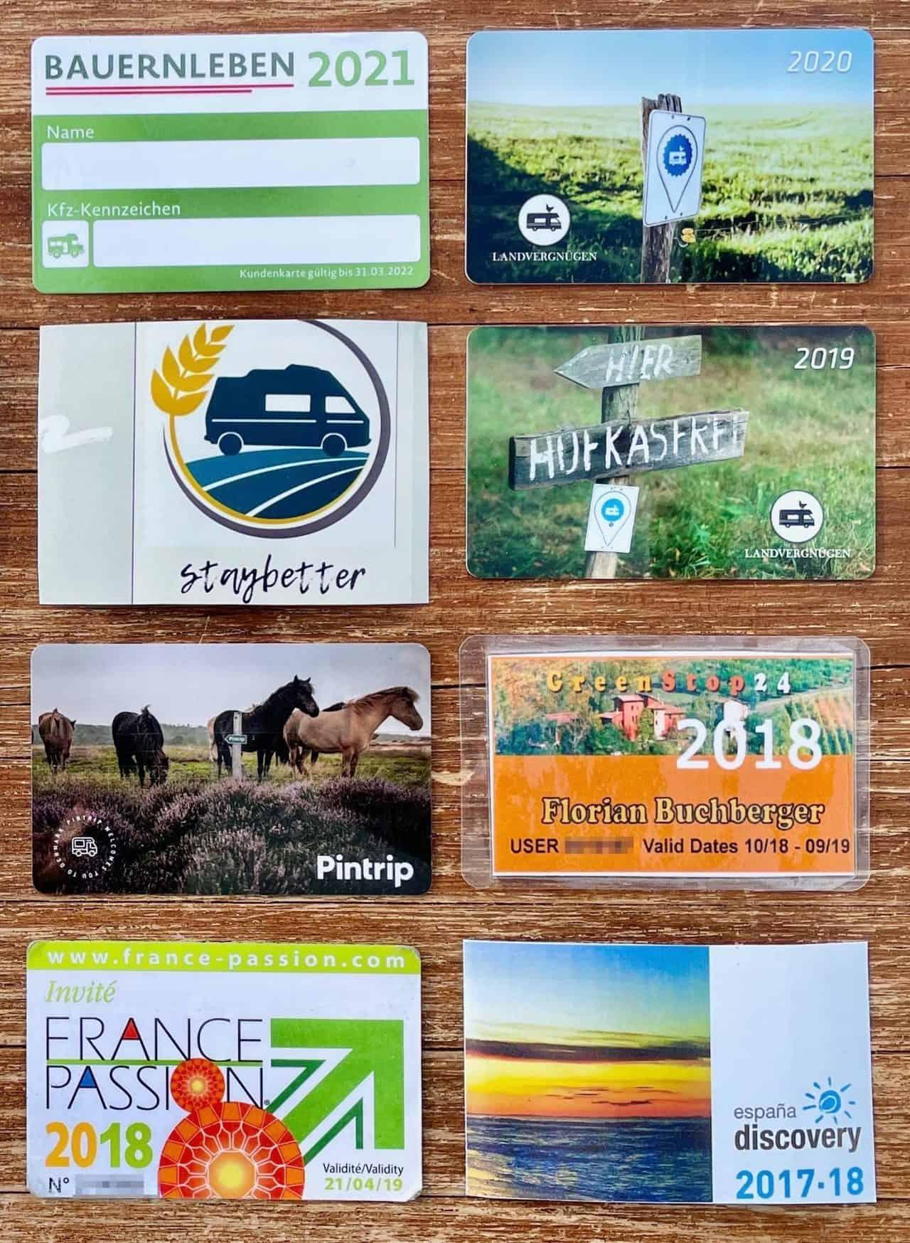 Campingkarten-FRANCE-PASSION-GREENSTOP24-LANDVERGNÜGEN-STAYBETTER-FARM-ESPANA-DISCOVERY-BAUERNLEBEN-PINTRIP-GREENSTOP24