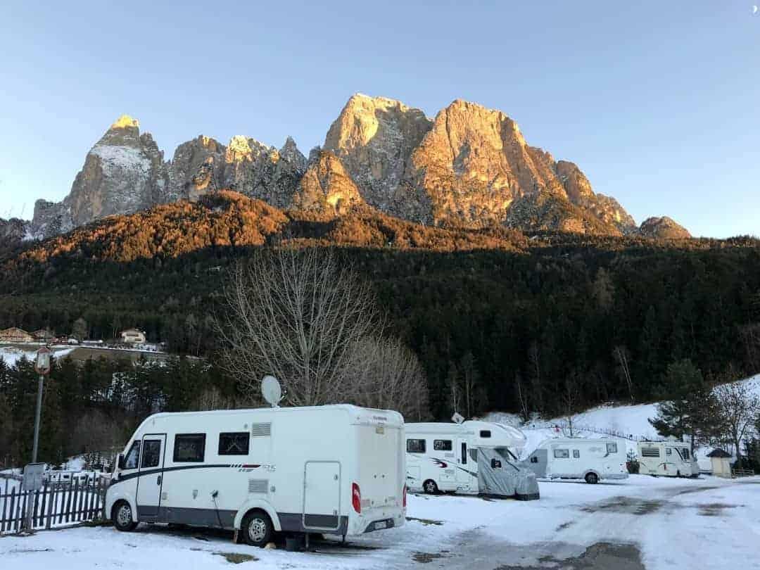 Campingplatz Seiseralm Panorama Berge