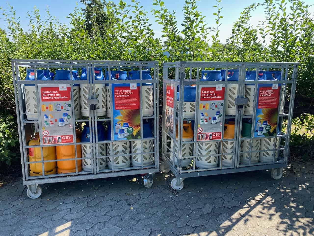 Dänemark-Gasflaschen-Primagaz-Campingplatz