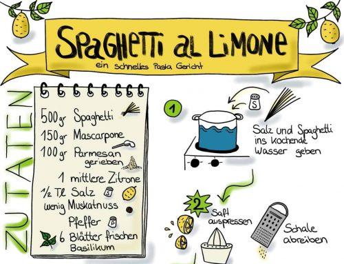 Camping-Lieblingsgericht Spaghetti Mascarpone al Limone