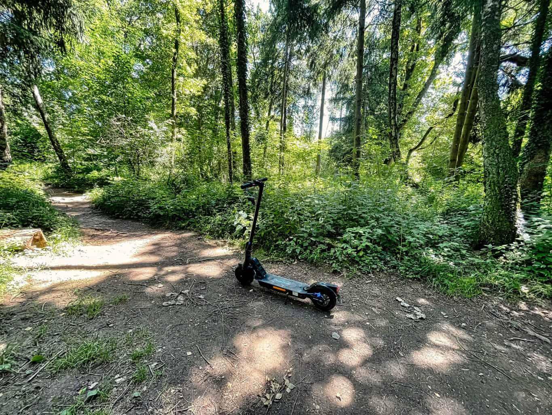 E-Scooter-ePF-1-PRO-Waldwege-Achtung-grosse-Wurzeln-und-Schlamm-sind-nicht-einfach