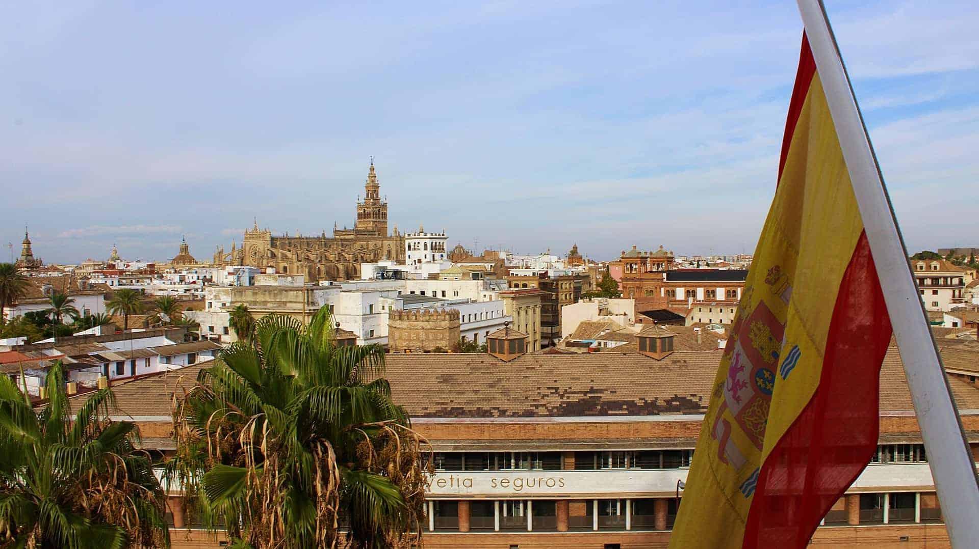 Flagge_Spanien_Sevilla