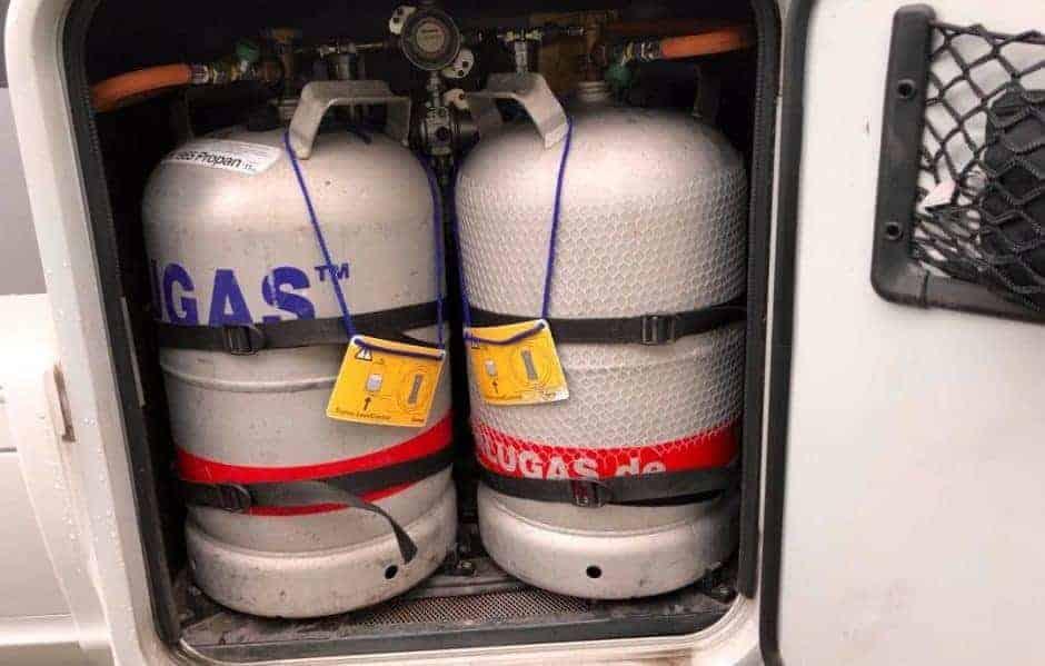 Gasflaschen Kasten