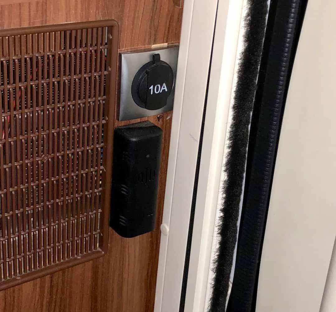 Gaswarner Wohnmobil Eingang