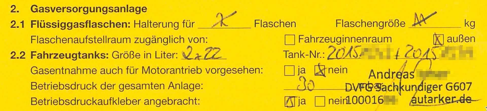 Gelbes-Heft-Prüfbescheinigung-Gastankflasche-DVFG-Sachkundiger-G607