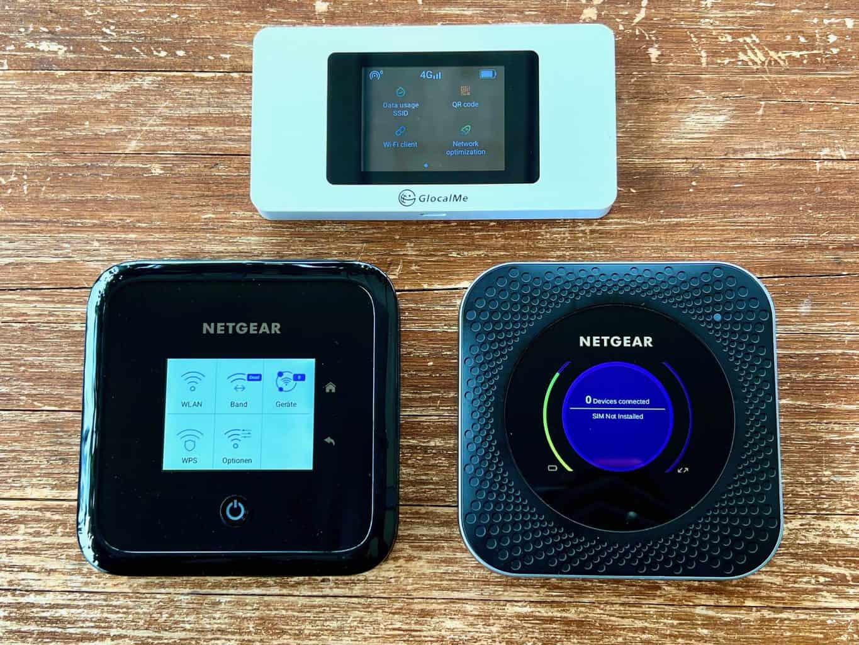 Internet-Router-Wifi-Mobilfunk-im-Test-und-Vergleich-Netgear-Nighthawk-M1-M5-GlocalMe-G3X