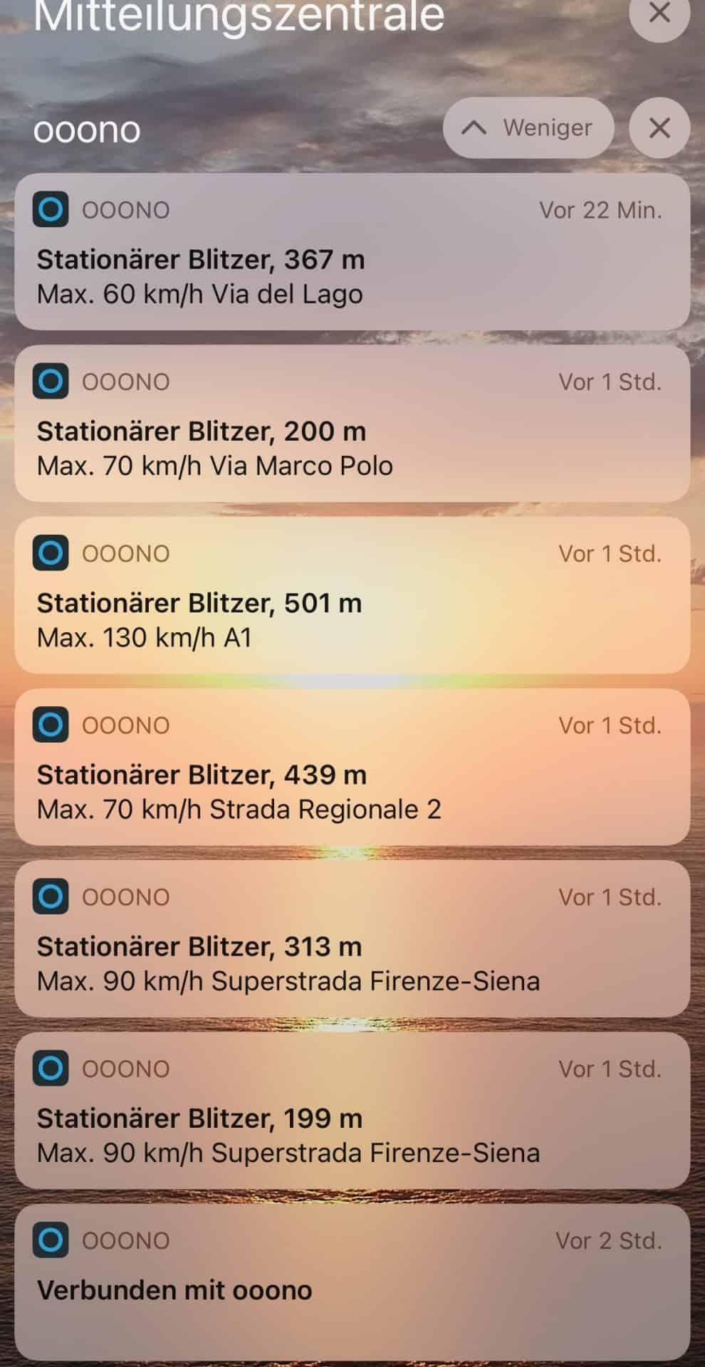 Italien-Biltzer-enorme-Blitzerdichte-Ooonu-Benachrichtigungen