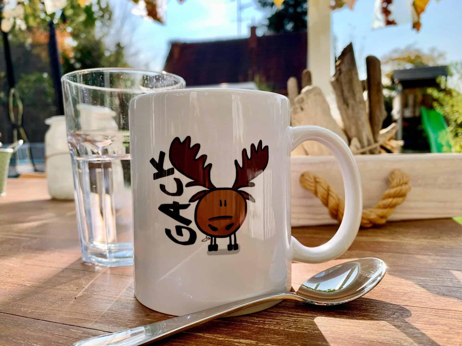 Kaffee-Tasse-Elch-Gack
