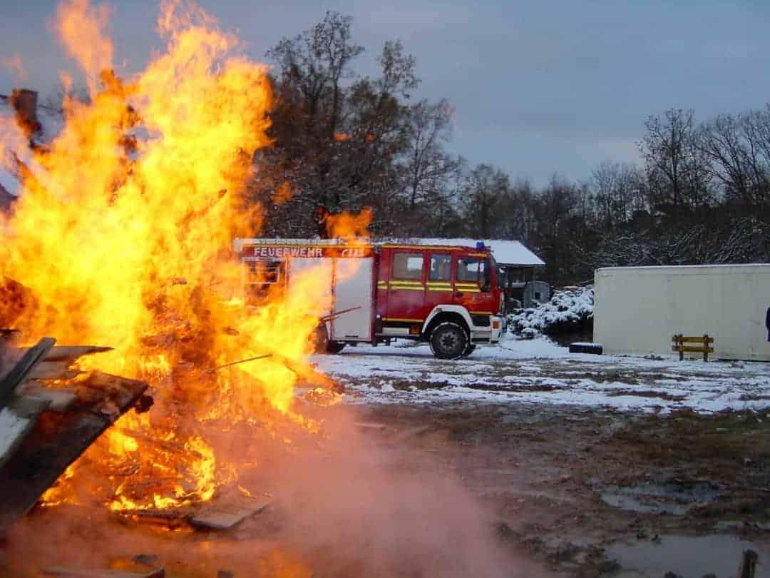 Kieswerk Feuer