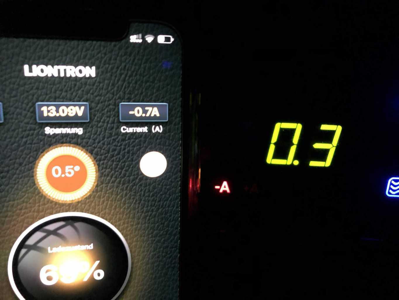 Lithium_Batterie_Liontron_App_EBL_Stromverbrauch_differenz_über_50_Prozent