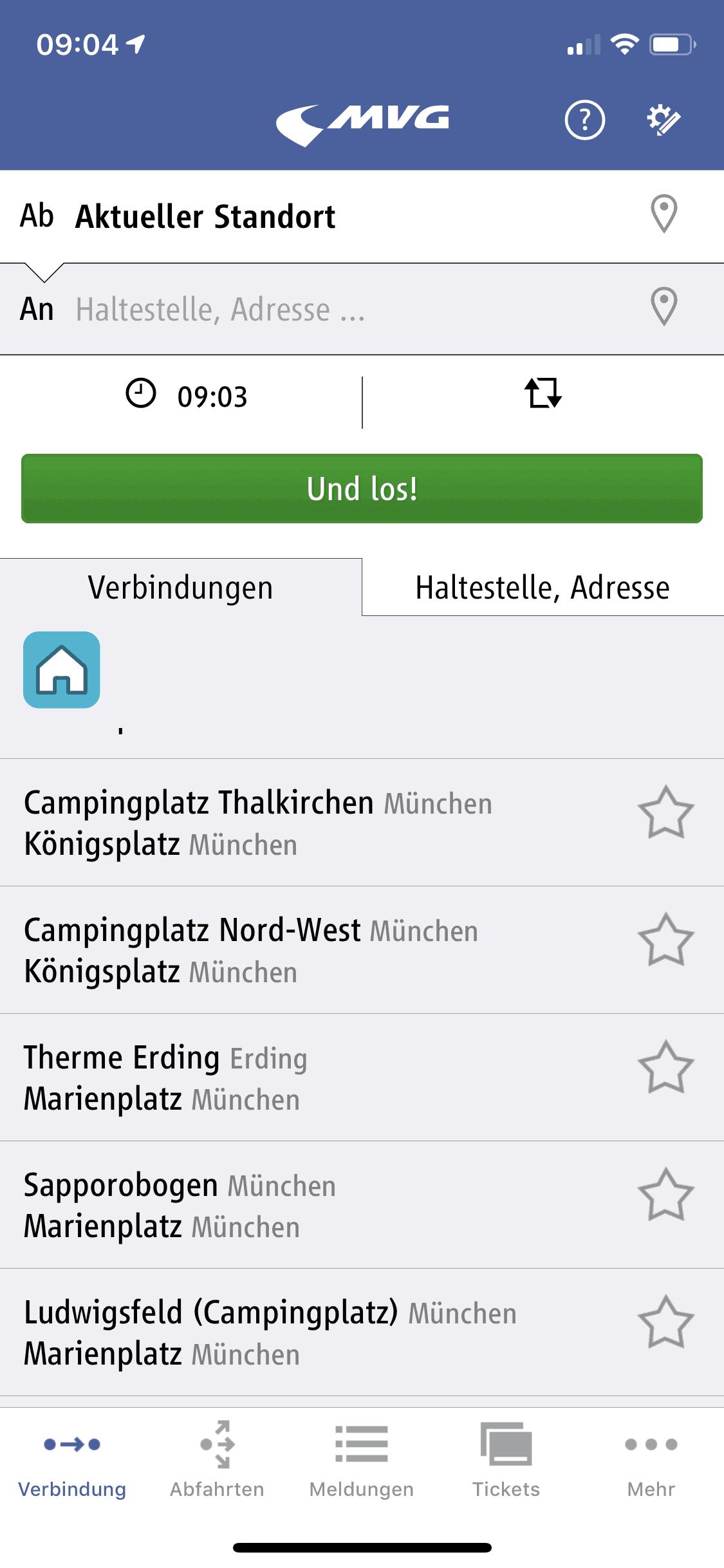 München_MVG_Fahrinfo_Verbindung