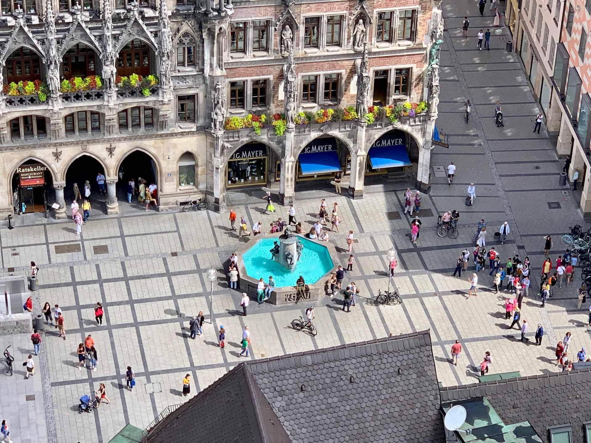München_Marienplatz_Fischbrunnen