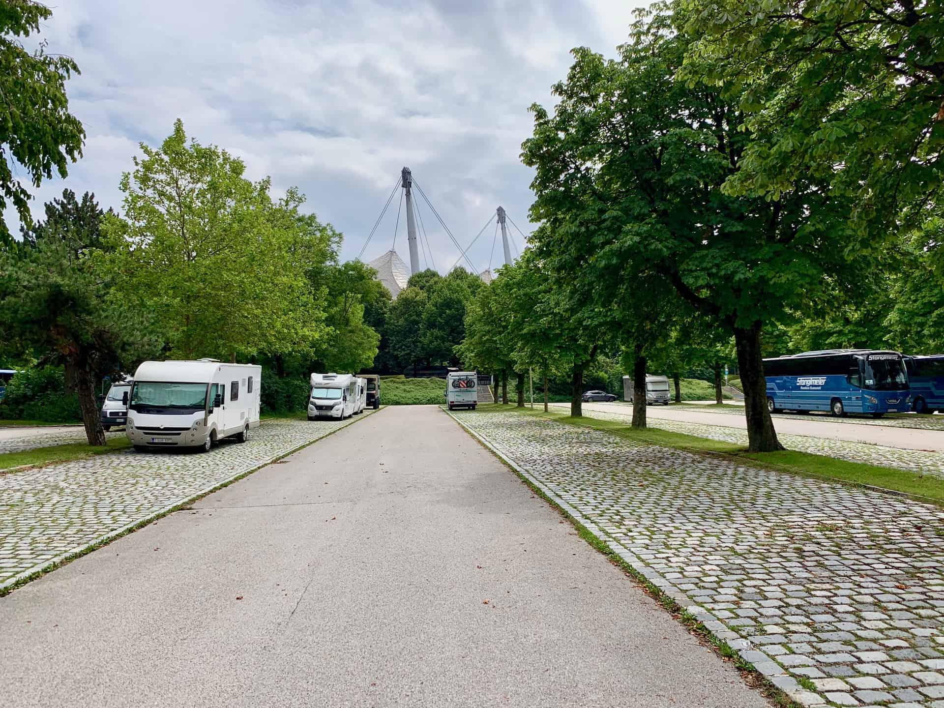 Olympiapark_Parkharfe_Wohnmobilstellplatz
