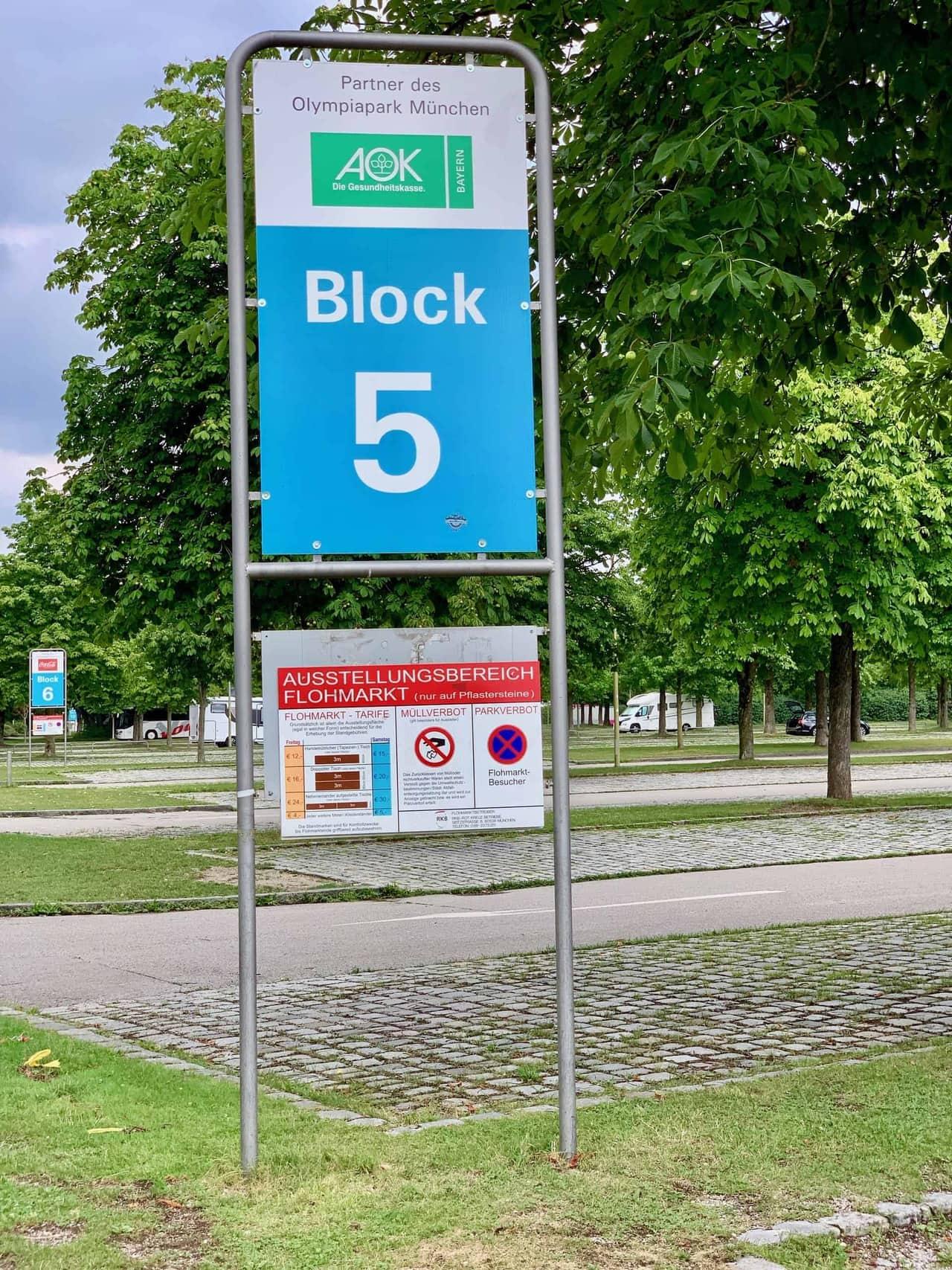 Olympiapark_Parkharfe_Wohnmobilstellplatz_Flomarkt_Sperrung