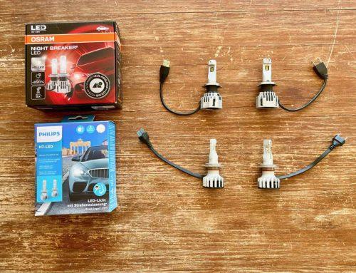 Philips Ultinon Pro6000 H7-LED und OSRAM NIGHT BREAKER