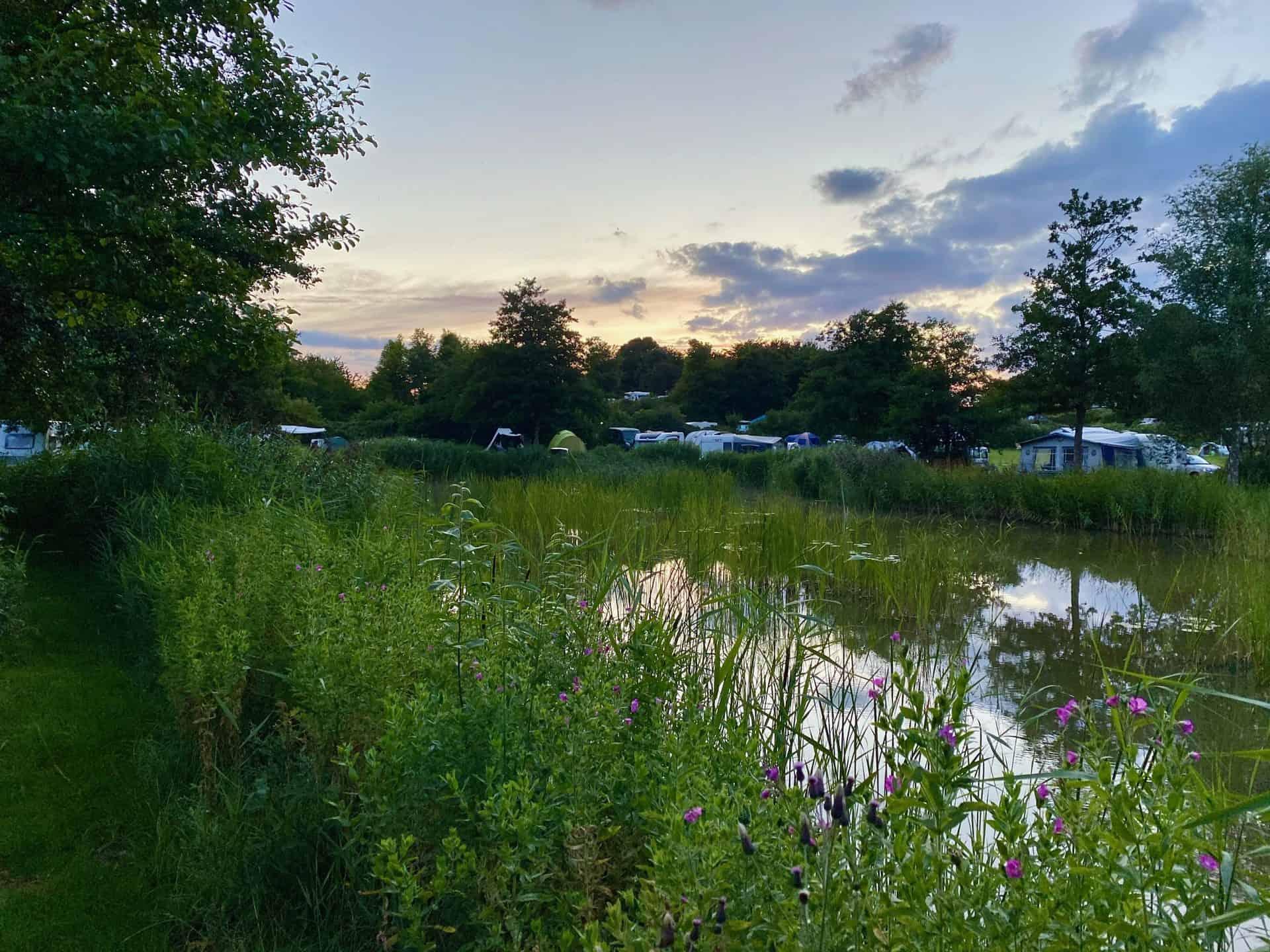Reise-Wohnmobil-Daenemark-Campingplatz-Mons-Klint-Fischteich