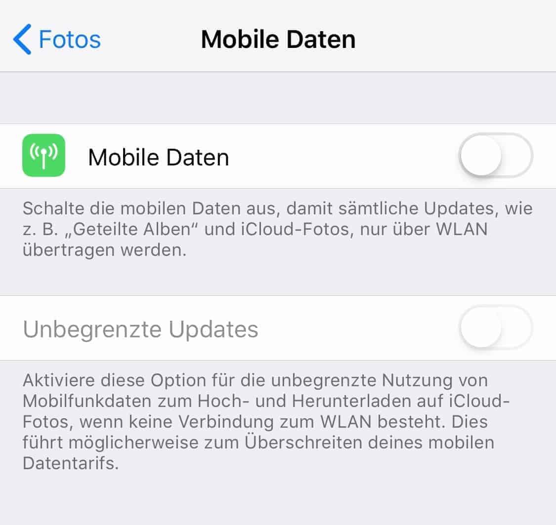 Roaming_iOS_Fotos_Mobile_Daten_Unbegrenzte_Updates
