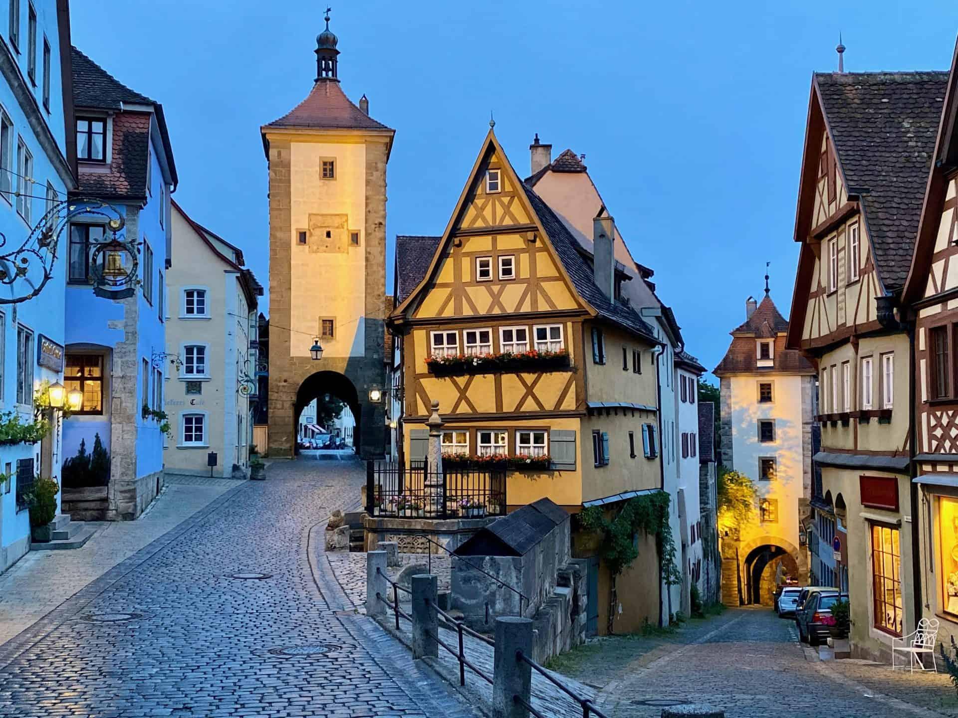 Rothenburg-ob-der-Tauber-Gabelung-Untere_Schmiedgasse