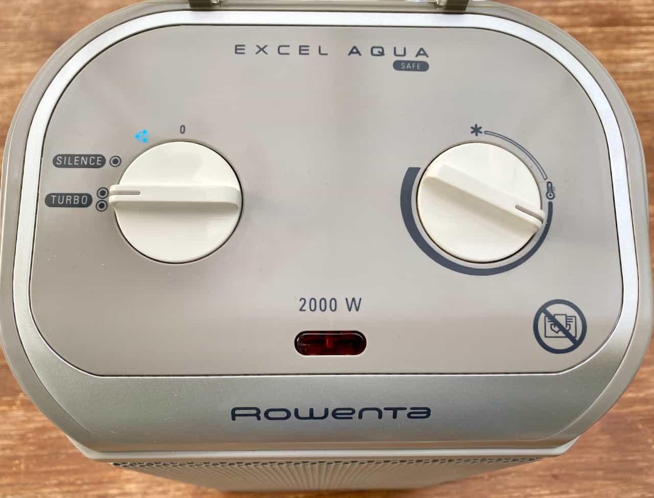 Rowenta-SO9280-Excel-Aqua-Safe-Keramik-Heizlüfter-Bedienelemente