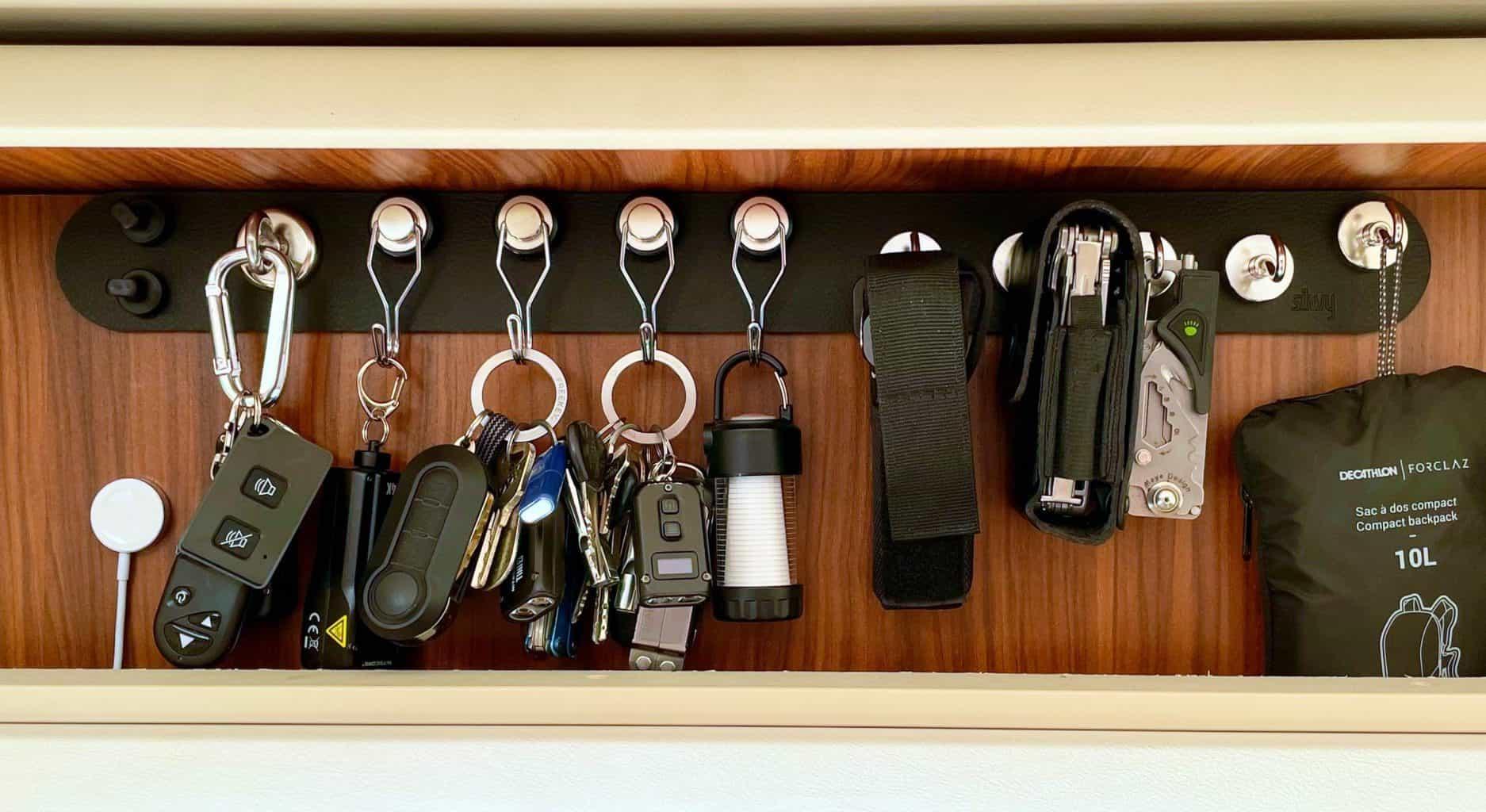 Silwy-Schlüsselbrett-Schlüssel-Taschenlampen-Leatherman-LED3