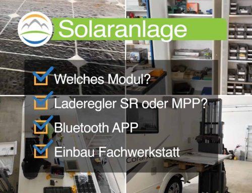 Videobeitrag Einbau und Erweiterung Wohnmobil Solaranlage ☀️