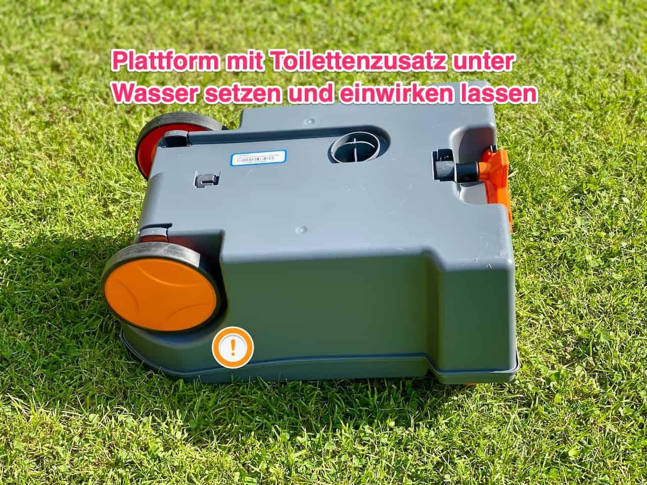 Thetford-Toilettenkassette-C250-stinkt-und-riecht-Lösung-mit-Toilettenzusatz-und-umdrehen