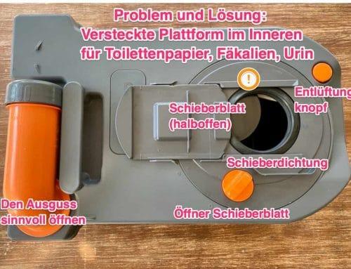Thetford Fehler lässt Toilettenkassetten streng riechen
