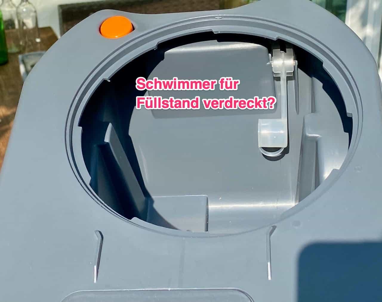 Thetford-Toilettenkassette-C250-stinkt-und-riecht-Ursache-Toilettenpapier-auf-Füllstand-Schwimmer