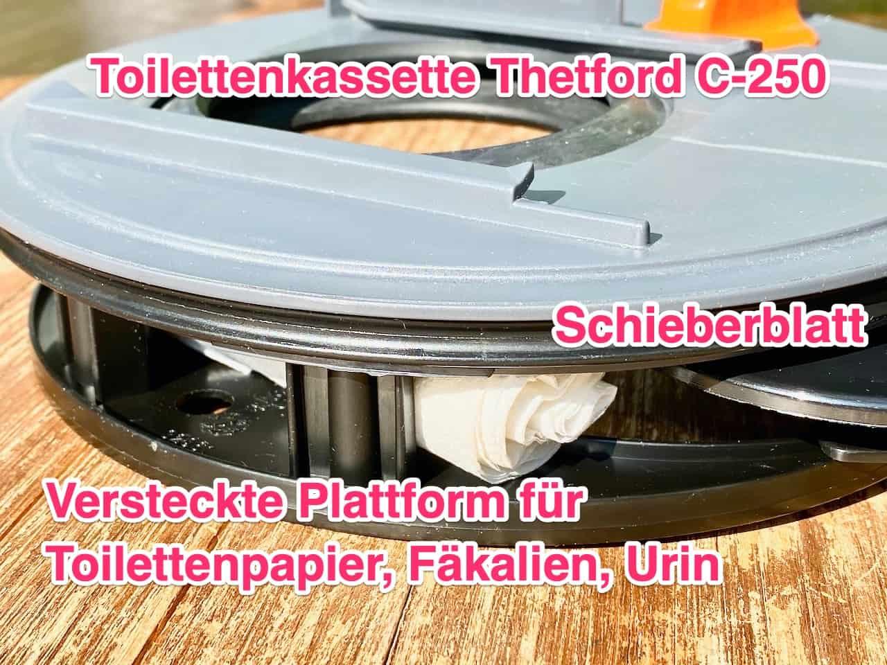 Thetford-Toilettenkassette-C250-stinkt-und-riecht-Ursache-Toilettenpapier-auf-der-zweiten-Plattform-Details