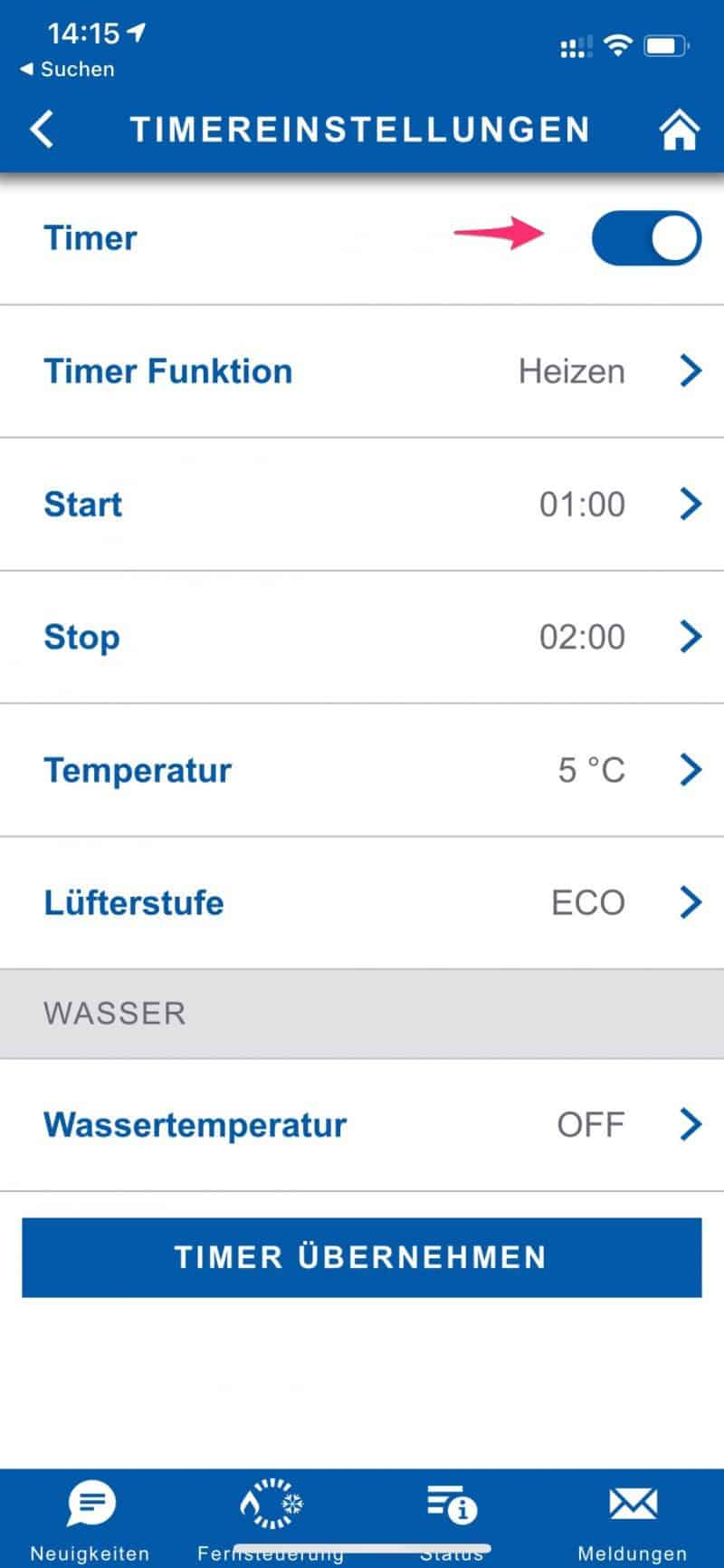 Truma-App-Timer-setzen
