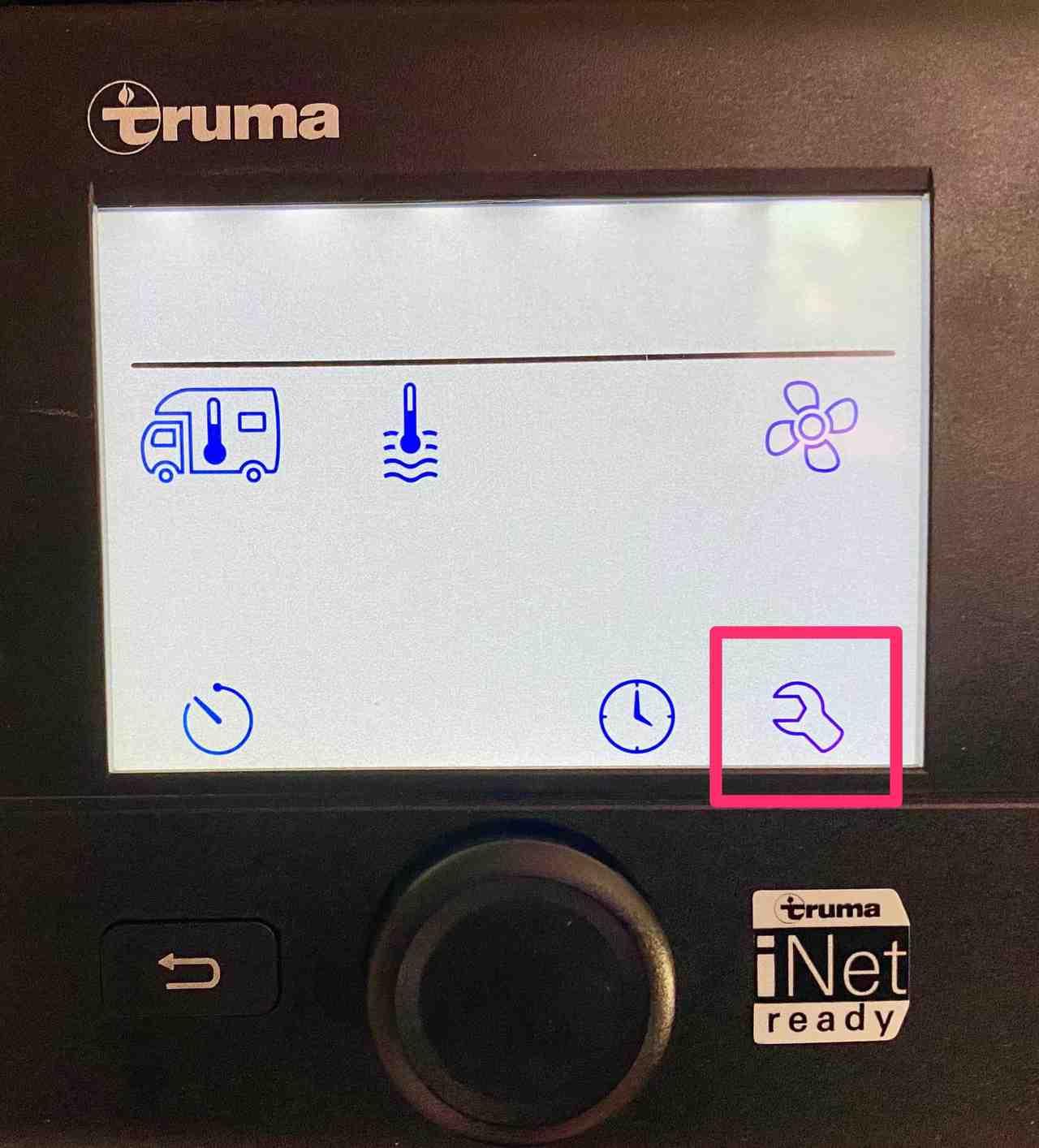 Truma-CP-Plus-Menü-Servicemenue-Einstellungen