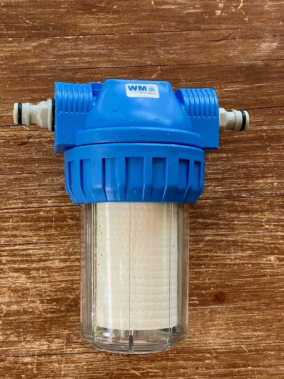 WM-aquatec-Wasserfilter-Umbau-von-Schlauchtülle-auf-Gardena-Adapter-komplett