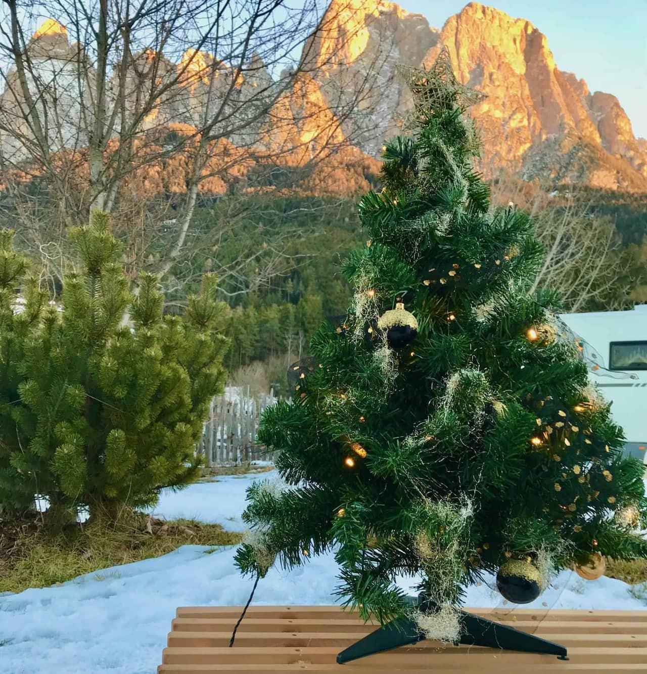 Weihnachten-2017-Camping-Seiser-Alm-Mini-Christbaum