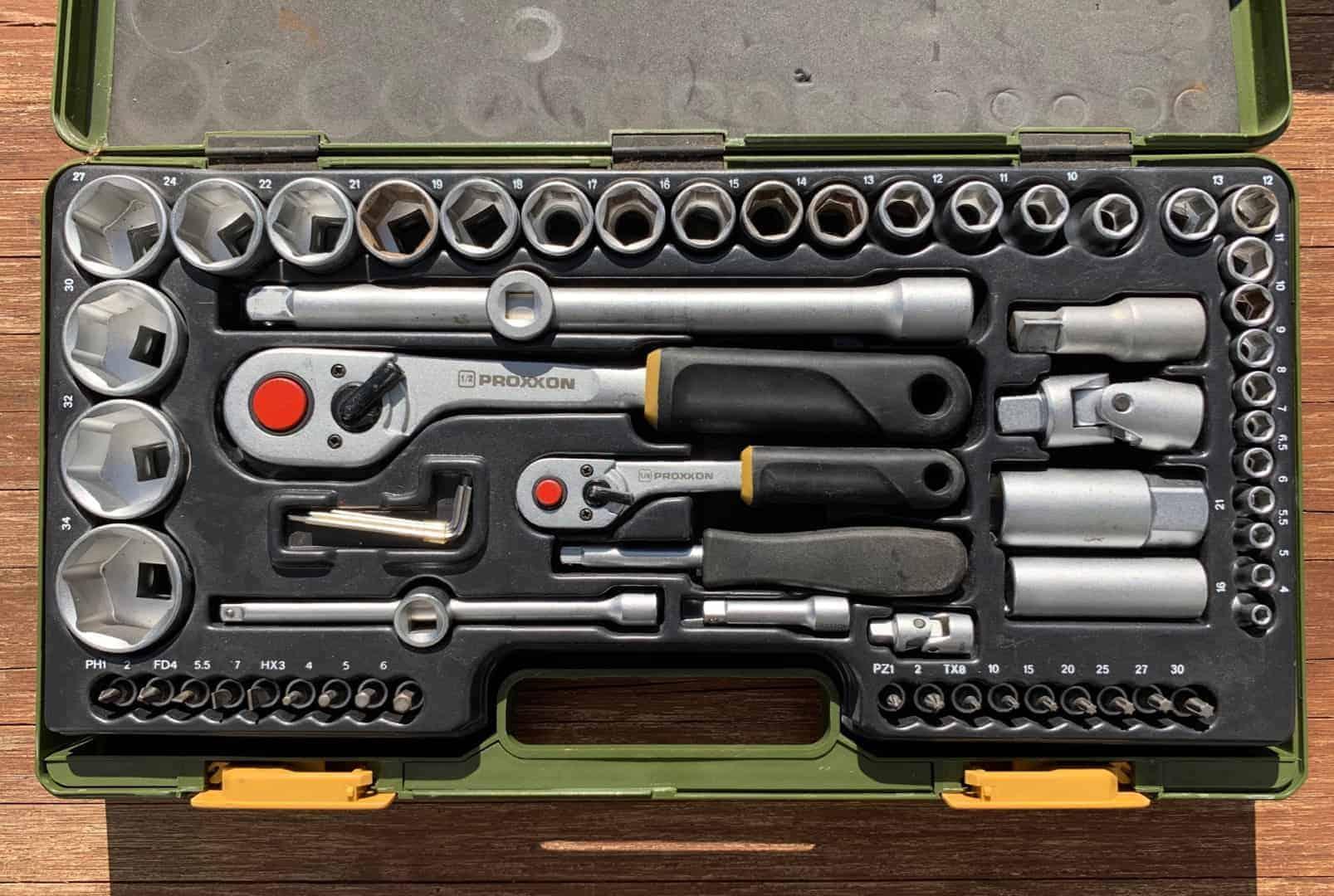 Werkzeug_Proxxon_23286-Steckschluesselsatz_mit_Knueppelratschen