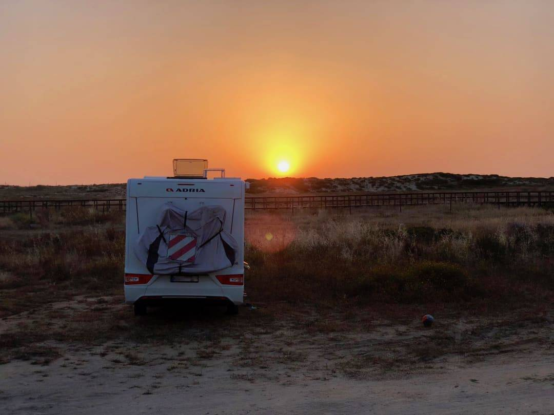 Wohnmobil Sonnenuntergang
